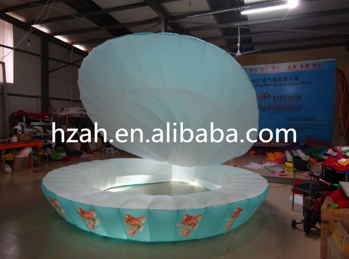Romantic Lighted Inflatable Seashell Wedding Decoration Shell environmentally friendly pvc inflatable shell water floating row of a variety of swimming pearl shell swimming ring