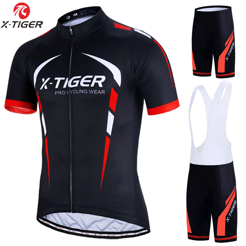 X-Tiger 2018 Pro Cycling Set MTB Bicycle Wear Maillot Ropa Ciclismo 3 Colors Bike Uniform Cycling Jersey Set Cycling Clothing tour de france cycling jersey bike short uniform breathable mtb ropa ciclismo pro cycling clothing men s bicycle maillot culotte