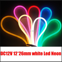 white led neon flex, DC12V input, 80leds per meter,brand new led neon flex strip to Diy home decoration,window shop,garden light(China)