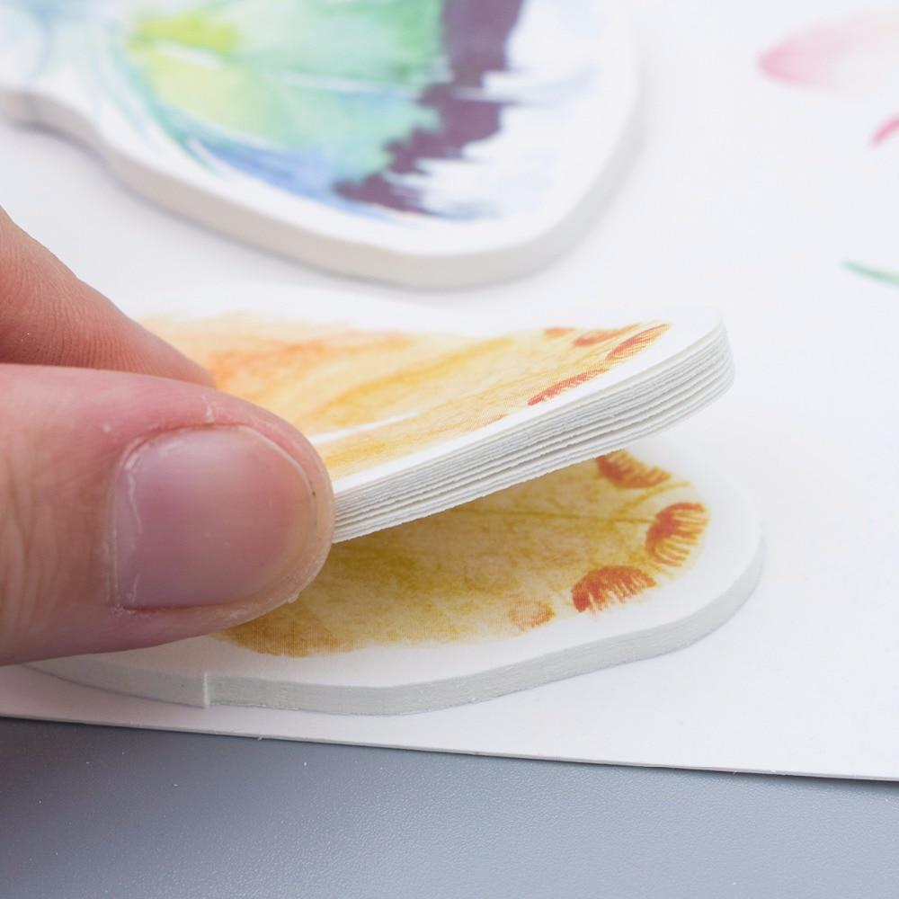 4 unids / lote Bloc de notas de plumas de colores Nota adhesiva - Blocs de notas y cuadernos - foto 3