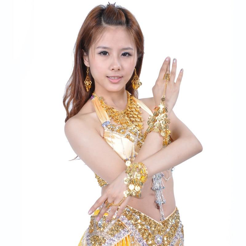 Belly Dance Accessories Bracelets Golden Belly Dancers Dance Jewelry Bracelets Belly Dance Coin Bracelet