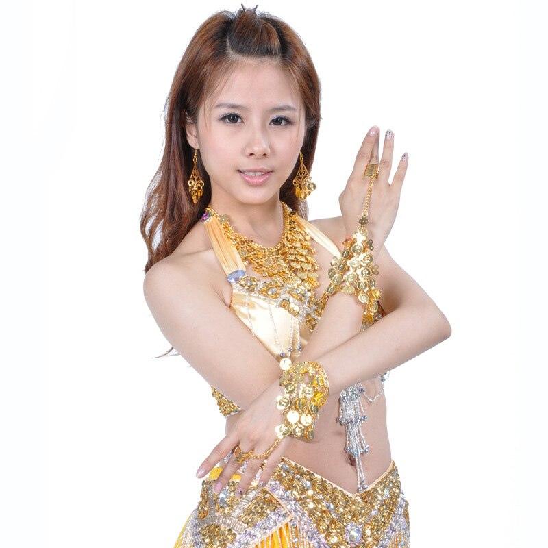 Vēdu aksesuāri Aproces Zelta vēderdejotāji deju rotaslietas aproces