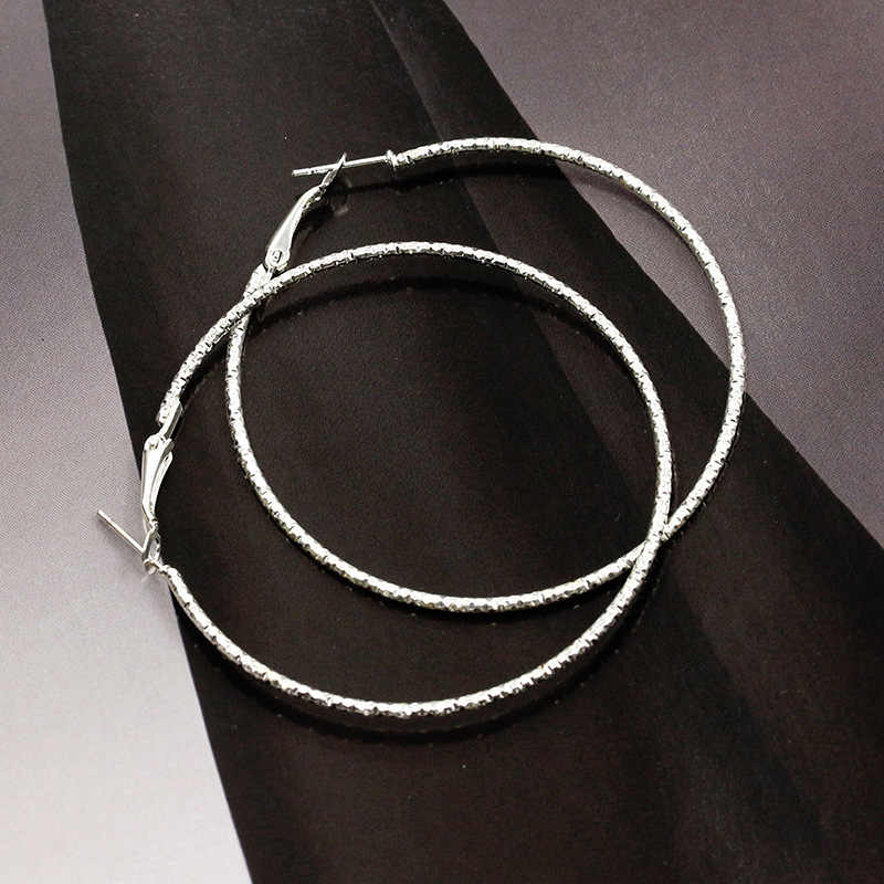 Vàng Bạc Màu Lớn Hoop Bông Tai Cho Phụ Nữ Đơn Giản Đồ Trang Sức Thời Trang Phụ Kiện Tai Vòng Tròn Lớn Vòng Vòng Earrings Pendientes