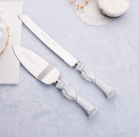 Personalized Wedding Resin Cake Knife Stainless Steel Cake Knife Set Customized Wedding Birthday Gift Party Decoration