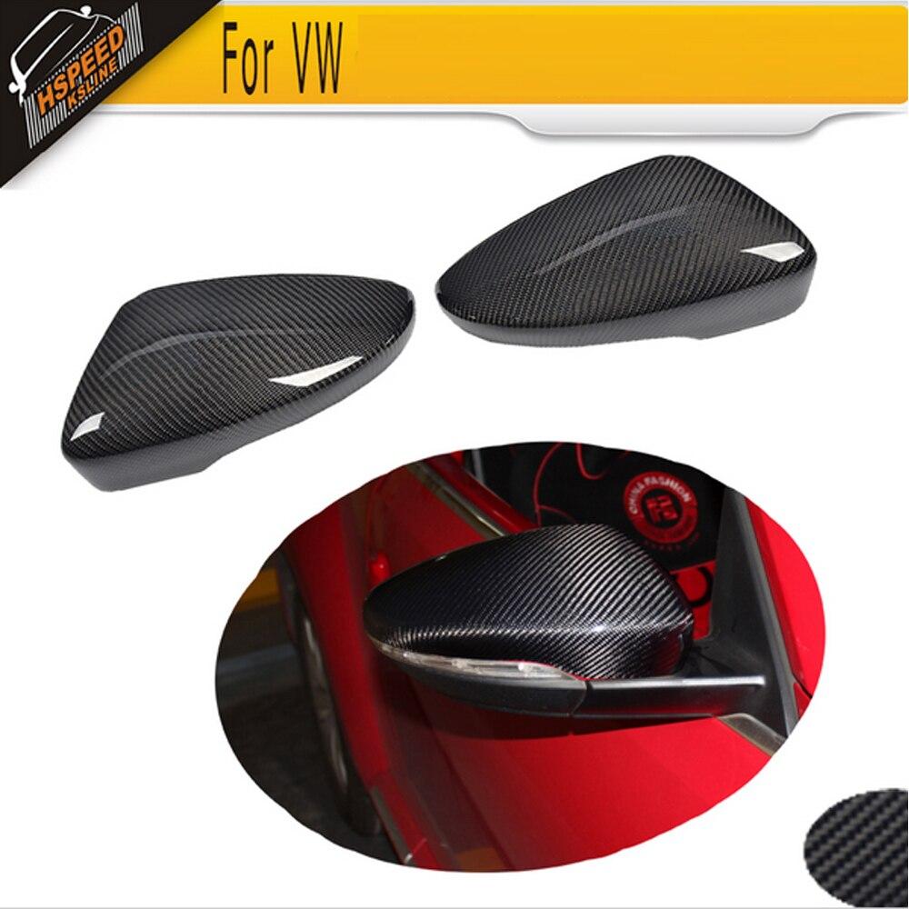 Зеркала автомобиля волокна углерода покрывает крышки для Volkswagen Фольксваген Пассат СС седан 09-17 Жук купе 13-17 Сирокко Хэтчбек 08-13 номера Р