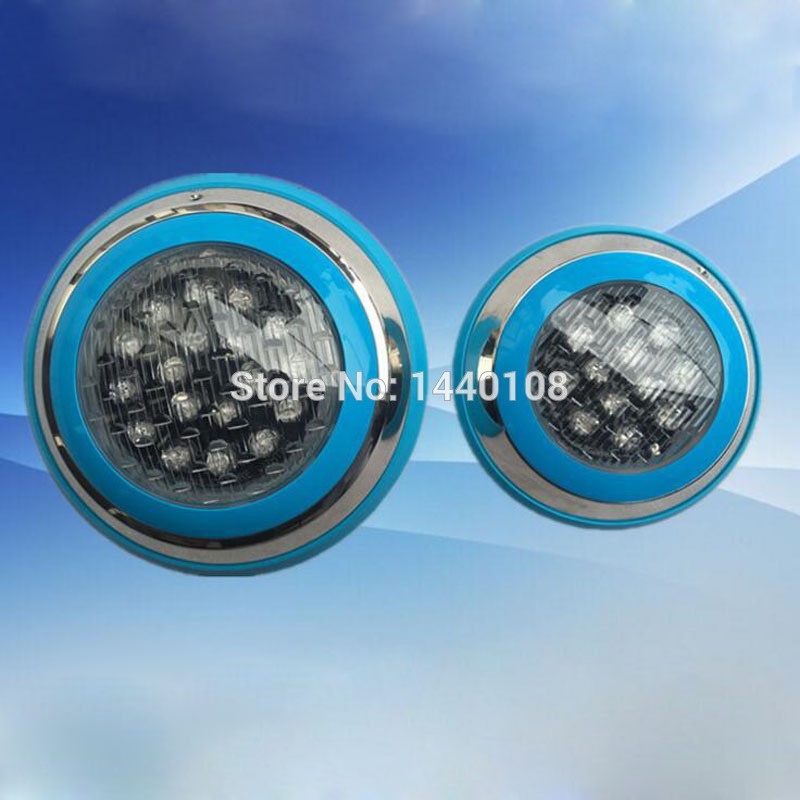 5pcs/lot 15w 230mm LED Pool Lights Wall Mounted Underwater Lamp Piscina IP68 12V RGB Remote Control Power Supply Waterproof