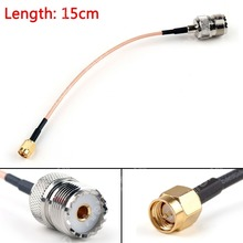 Areyourshop Sale 15cm RG316 Cable SMA Male Plug To SO239 UHF Female Jack Straight Pigtail 6in  Mini