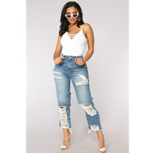 цены women Sexy ripped jeans Girls gloria jeans with high waist ladies mom denim pants femme boyfriend jeans for Calca jeans feminino