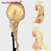 Бразильский прямые #613 блондинка Синтетические волосы на кружеве человеческих волос парики Glueless Мёд блондинка Синтетические волосы на круж