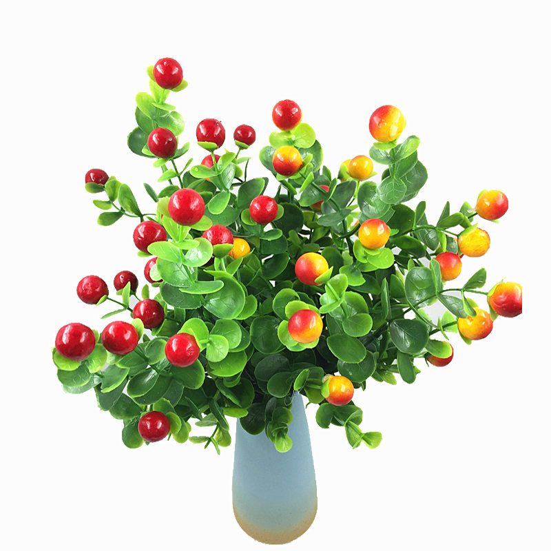 7 Branch Artificial Rich Fruit Spring Silk Flowers Plastic Decorative Home  Wedding Party Garden Decor Mariage
