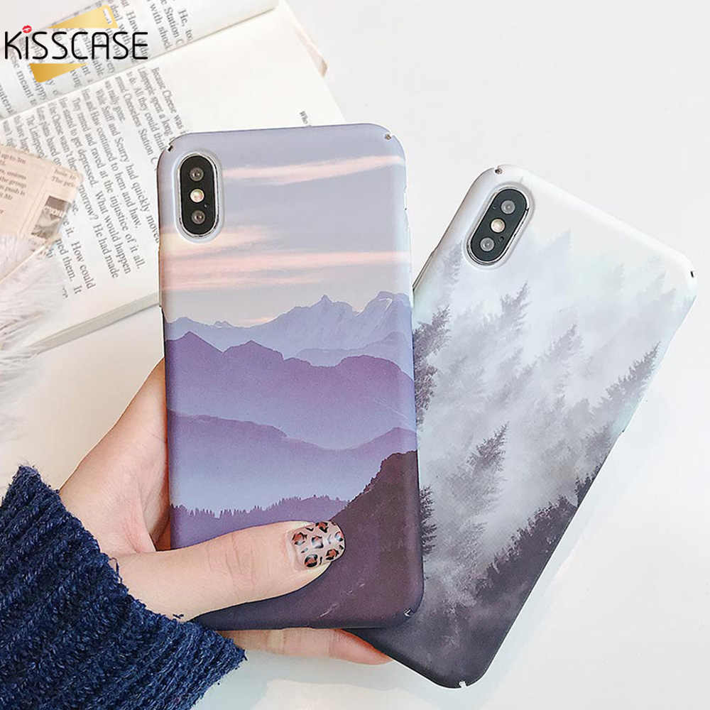 KISSCASE Landscape Hard PC Water Sticker Case For Huawei Honor 8X 9 10 Lite P30 20 Lite P Smart 2019 Mate 20 10 Protective Cover