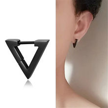 Korean Cool Punk Style Earrings for Men Women Titanium Steel Triangle Stud Earrings Statement Jewelry Piercing Ear Stud(China)
