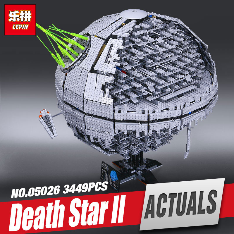 LEPIN 05026 3449pcs NEW Star Wars Death Star The second generation Building Block Bricks Toys Compatible with 10143 Gifts