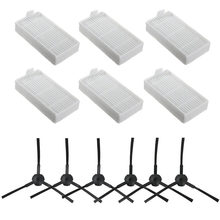 Accessories Replacement Parts fit for ILIFE V3s V5 V5s V5s pro Robot Vacuum Cleaner - Filters and Side Brushes(Left+Right)(China)