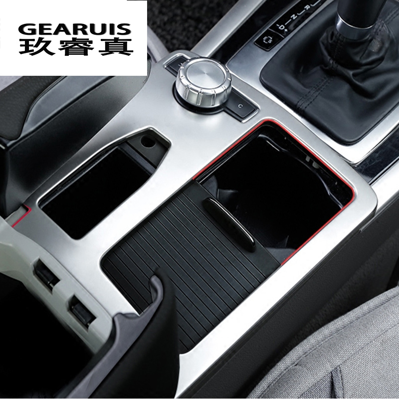 Car Styling Interior Stainless Steel Water Cup Holder Panel Decoration Trim For Mercedes Benz E class W212 Coupe 2010-2012 LHD dhl shipping 23pc x error free led interior light kit for mercedes for mercedes benz e class w212 e350 e400 e550 e63amg 09 15