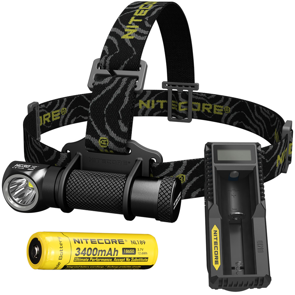 NITECORE HC30 HC30W Headlamp + UM10 Charger + 18650 Battery CREE XM-L2 U2 1000 Lumens Waterproof Flashlight Torch Free Shipping 2017 new nitecore p12 tactical flashlight cree xm l2 u2 led 1000lm 18650 outdoor camping pocket edc portable torch free shipping