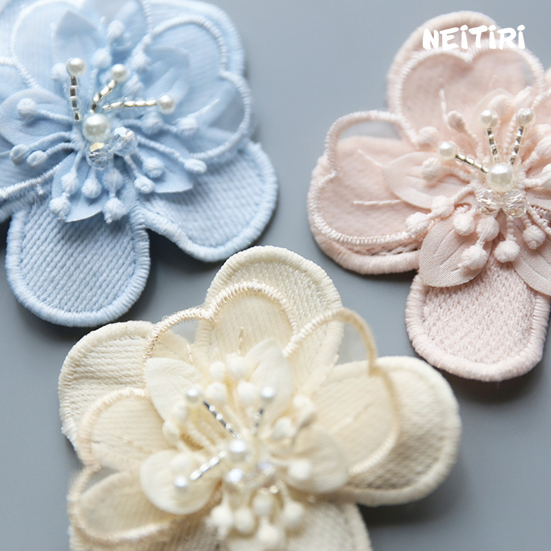 Obedient Korea Cotton Flower Crystal Crown Side Bangs Clip Hair Accessories Rim Hair Clips For Girls Hairpin Bow K Hairgrips Apparel Accessories