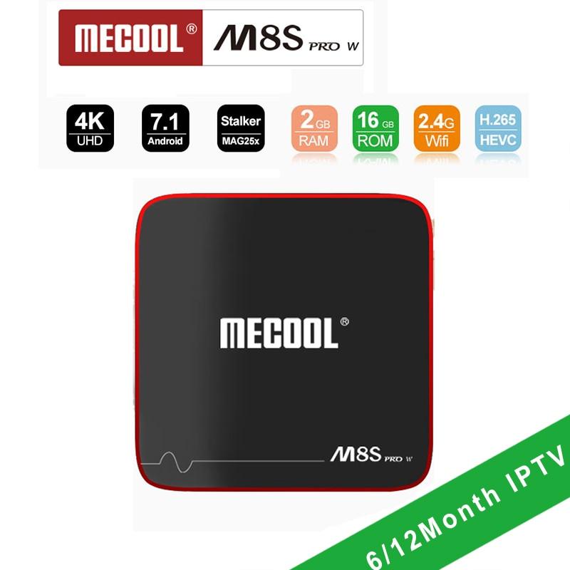 M8S PRO W S905W 2GB16GB Android 7.1 Smart TV Box Europe IPTV 2000 Channels Turkish Germany EX-YU Albania Arabic French IPTV BOX цена 2017