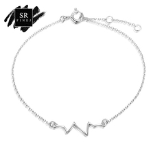 SR:FINEJ 925 Sterling Silver Lightning Bracelets & Bangles for Women Jewelry Rhinestone Chain Link Bracelet Female New Year Gift(China)