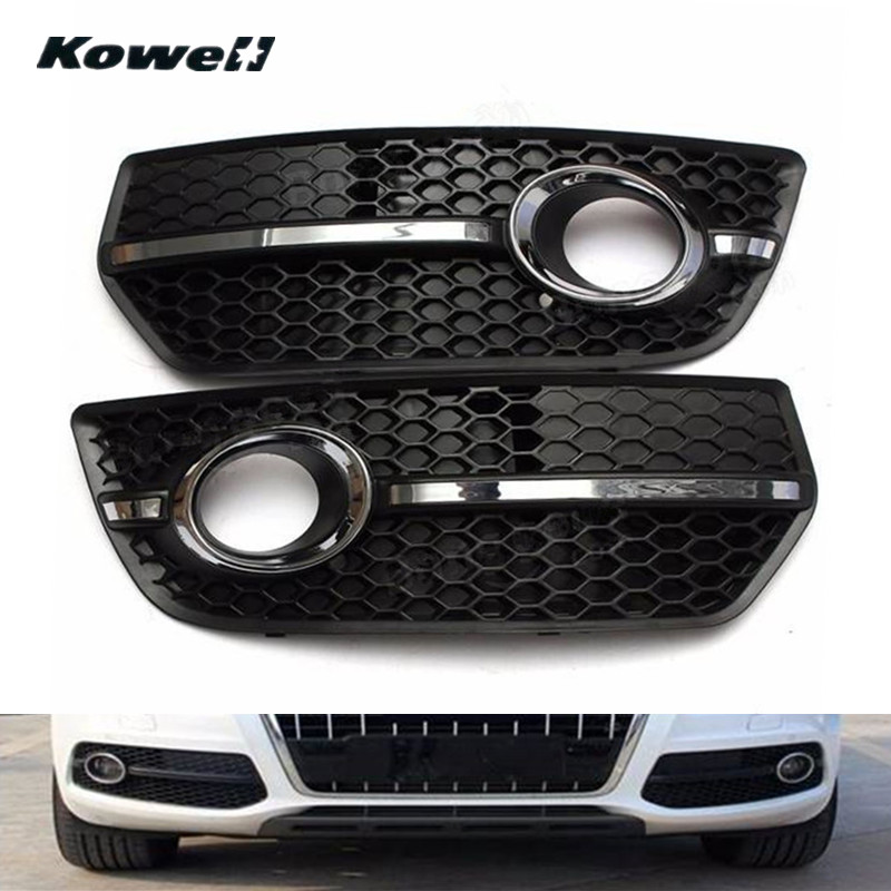 KOWELL Newest Front Bumper Fog Light Grill Left & Right Grille for Audi Q5 2009 2010 2011 Car Auto Accessories Replacement Parts купить ауди q 5 2009