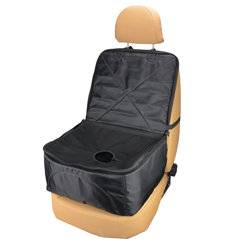AUTOYOUTH 1PCS Pet Car Cushion Car Chair Cover Universal Waterproof Breathable Dog Seat Protector for Cars, SUVs & Vans Black
