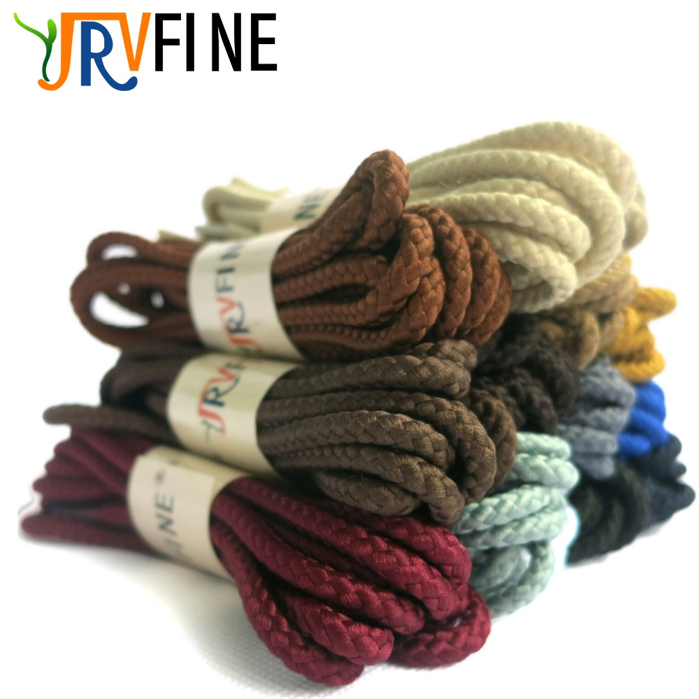 YJRVFINE [10Pair] 4/25Thick Twisted Texture Round Shoe Laces Heavy Duty and Durable Shoe ...