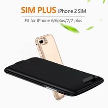 2017 Doppelsim Doppeleinsatzbereitschaft Adaper metallrahmen Ultradünne Lange Einsatzbereitschaft für iPhone6 (s)/6 plus/7/7 plus & 1800/2500 mAh Energienbank