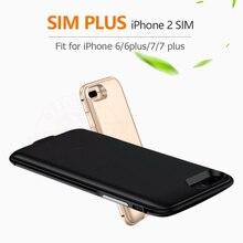 2018 Dual SIM Dual Standby Adaper Metal frame Ultrathin Long Standby for iPhone6 (s)/6 plus/7/7 plus & 1800/2500 mAh Power Bank