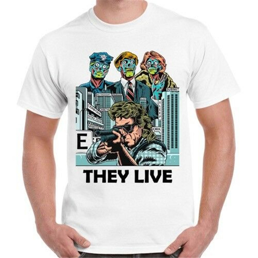 They Live Thriller Cult Satirical Sci Fi Horror Roddy Piper Gift T Shirt Adults Casual Tee Shirt