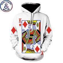 Divertido 3D Poker imprimir Hoodies hombres mujeres 2018 primavera otoño  nuevo Casual sudaderas con capucha hombres Hip Hop . 7f43abf3058