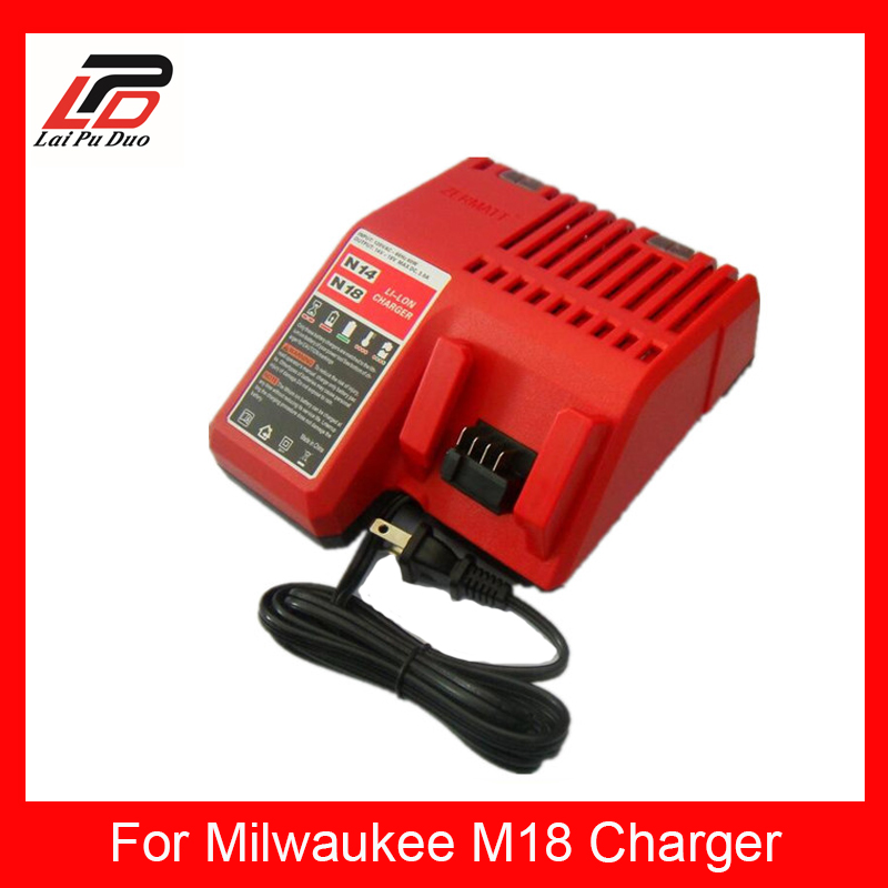 NEW Replacement charger For Milwaukee 14.4v-18v Charger N18,48-11-1828 Power Tools Rechargeable Li-ion Battery charger power tools replacement li ion battery charger electric screwdriver lithium ion battery charger for milwaukee m12 m18 ac110 230v