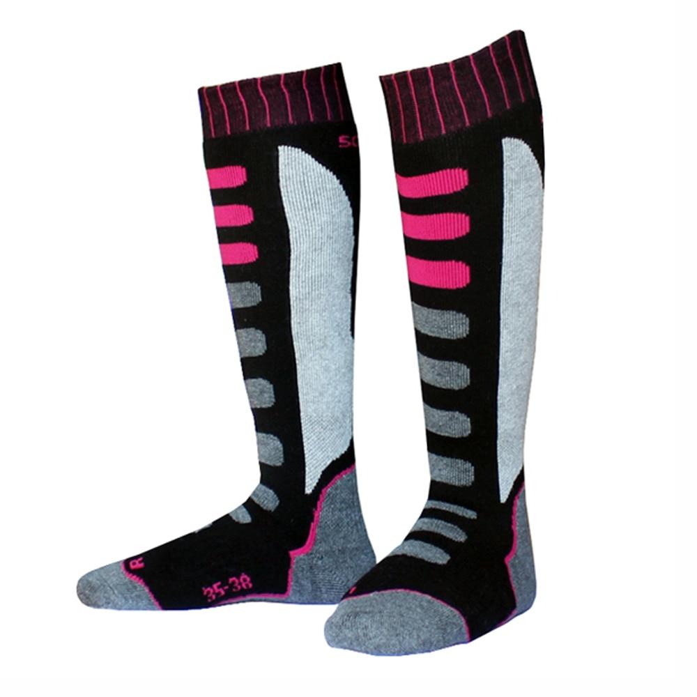 جوراب های اسکی حرارتی با کارایی بالا و مردان ، زنان و کودکان ، پشم نخی ، جوراب ساق بلند اسنوبورد فوق العاده ضخیم ، لباس والدین 5 اندازه