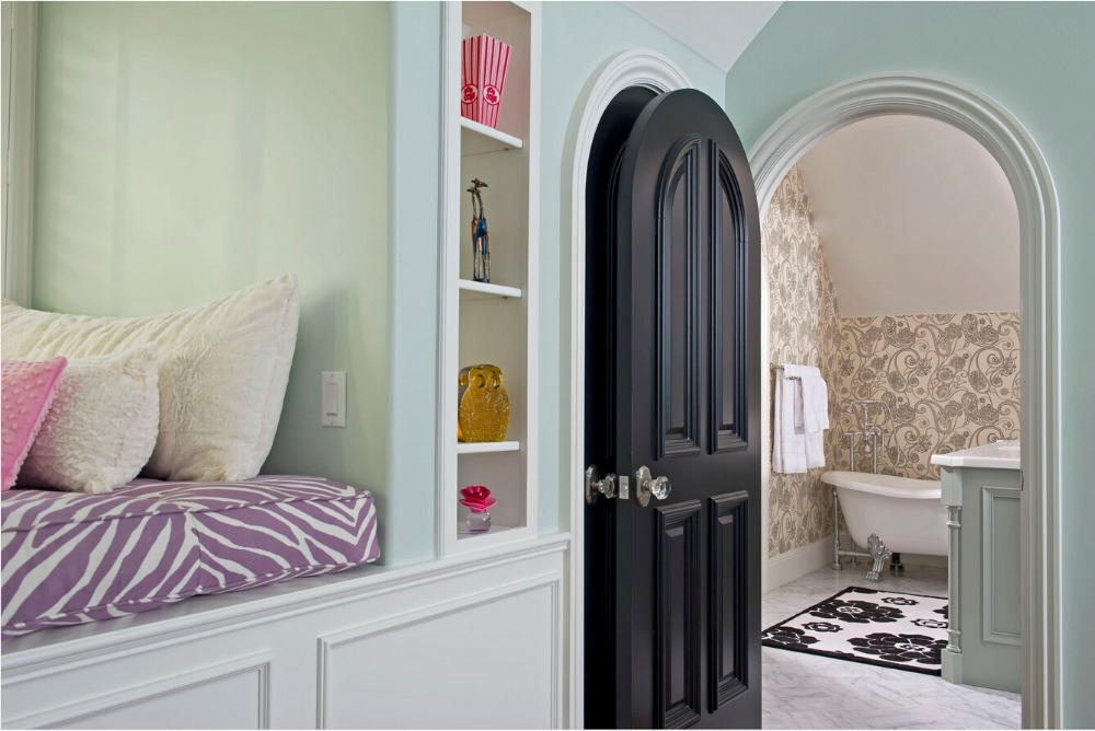 2017 New Style Shaker Highly Durable Solid Wood Door Paint Grade Interior Wood Door Entry Doors ID1606022