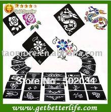 200 Pieces Hot Sell Glitter Tattoo Stencil Design For Body Art Painting Mixed Designs Glitter Tattoo Kits Supplies