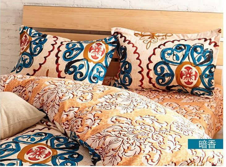 Aliexpresscom Buy Yellow Blue Vintage Bedding Comforter Sets - Blue and yellow comforter sets king