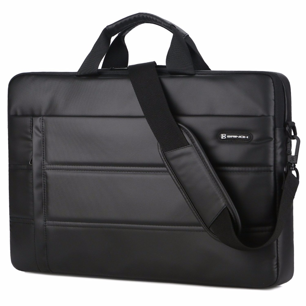 BRINCH Laptop Messenger Bag 15.6 Inch Waterproof Easy Clean Durable Business Laptop Bag Shoulder Bag Work Briefcase Handbag