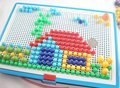 Nuevos creativo lámina ungueal setas bloques de talón inserto ladrillos juguetes educativos