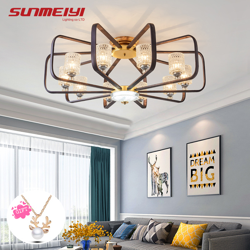 Free Shipping Modern Design Mini Bedroom Led Amber Chandeliers Ceiling Lights & Fans