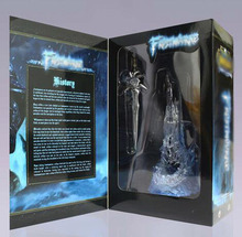 Game the Lich King Arthas Menethil's Weapon Sword Frostmourne with LED Light Figure Model Toy