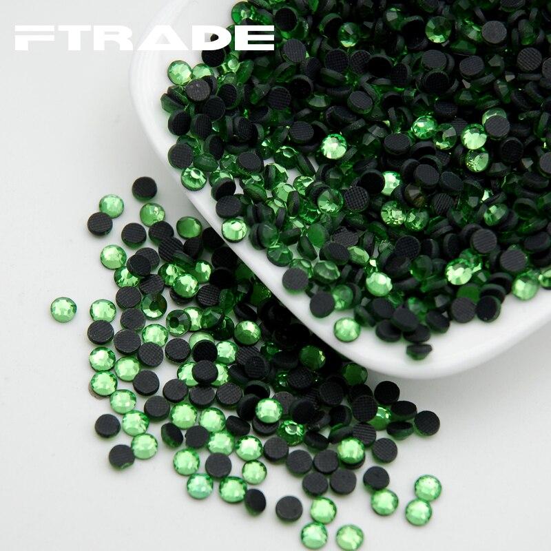 SS6 SS10 SS16 SS20 SS30 Light Green DMC Hotfix Rhinestones Glass Crystal  Flatback Hot Fix Rhinestone For Party Dresses-in Rhinestones from Home   Garden  on ... 221c252b1933