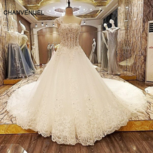 LS22261 special wedding dresses lace ball gown corset back wedding gowns 2017 robe de mariage real photos