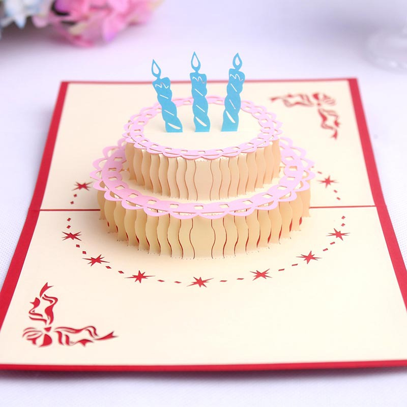 Для поздравления, открытка тортиком своими руками