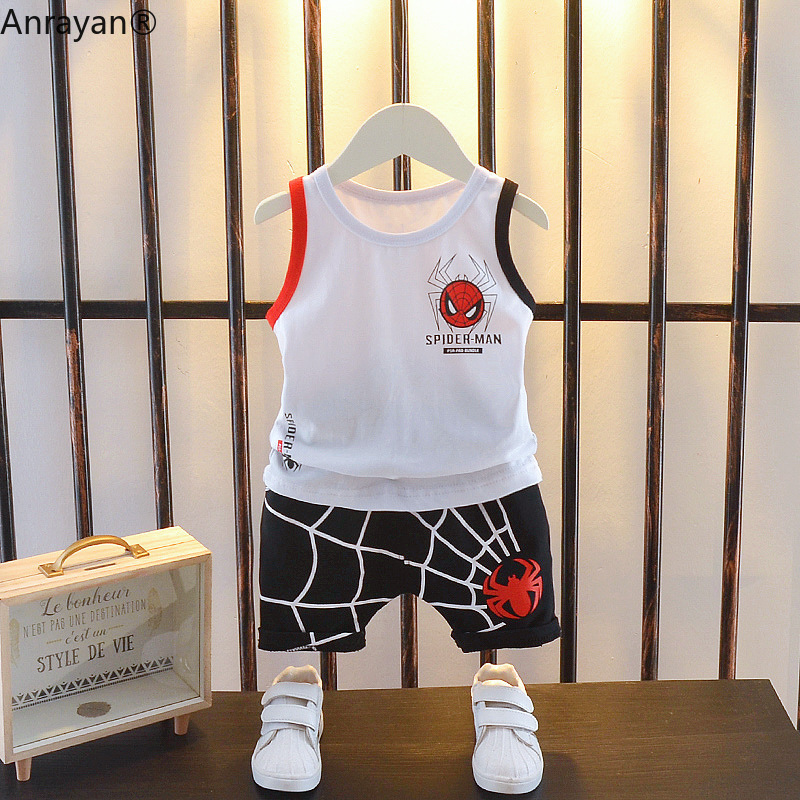 Summer Child Baby Boy Girl Clothes Infant Cartoon Vest Shorts Toddler Garment Clothing Kid Casual Tracksuits Toddler Shirts Sets