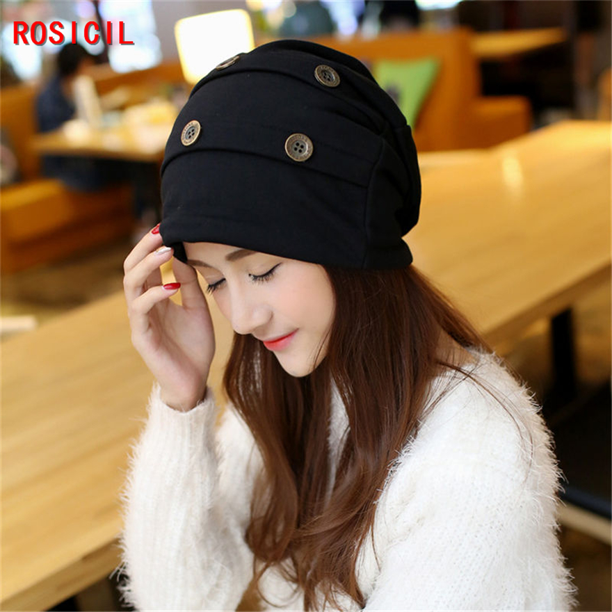 ROSICIL spring warm reversible crochet beanie hat for women men,knit chunky baggy skullies cap bonnet,gorros mujer invierno 2016 fashin reversible skullies
