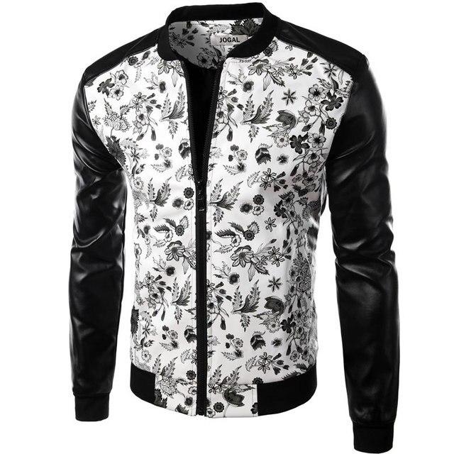 Design Hommes Chemise Blanc Mode De Cuir Floral Pu Marque 2016 WBwfA6cHBq