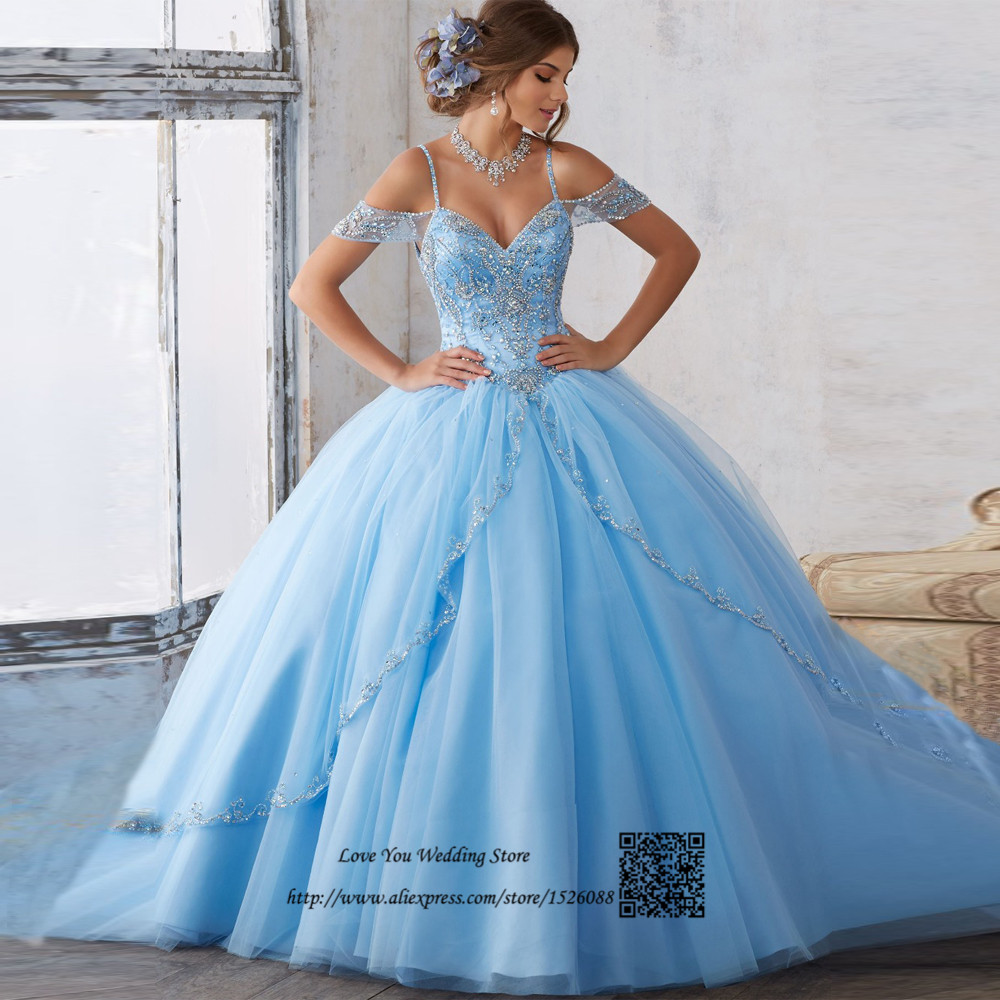 Popular Light Blue Quinceanera Dresses-Buy Cheap Light Blue ...