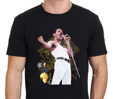 Freddie Mercury Queen Live Aid 1985 Bohemian Rhapsody Men's T-Shirt Size S-3XL Male Designing T Shirt top tee