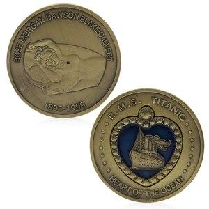 Бронзовое покрытие Титаник RMS Сердце океана медаль памятная задача монета