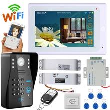 ENNIO SY705WMJSDNC11 Wifi RFID Password Video Door Phone video intercom System with Electric Drop Bolt Lock + IR-CUT HD1000TV