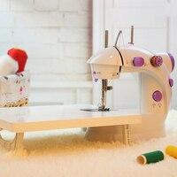 Электрический мини Вышивание машина для дома ручной шить 110/220 В регулировка скорости со светом ручная швейная машинка